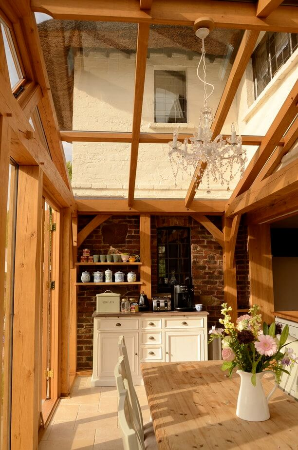 Oak conservatory in East Sussex 1