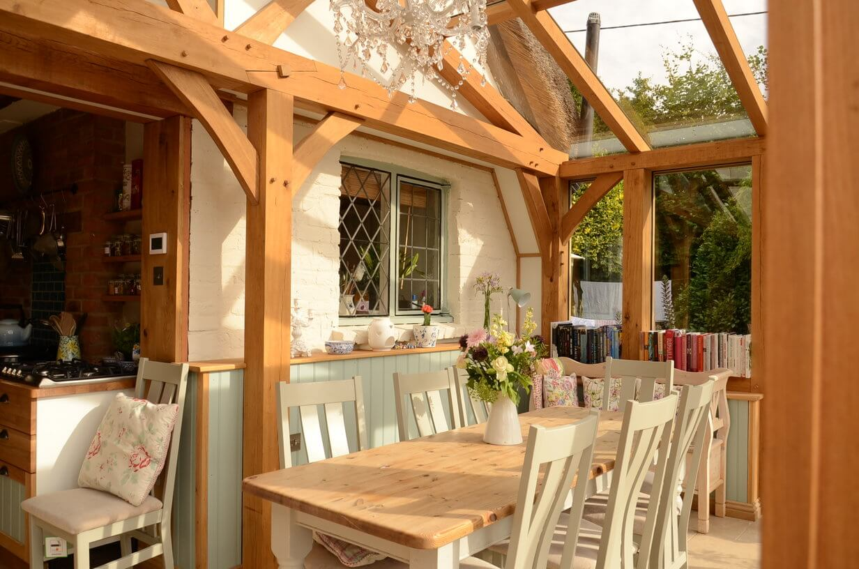 Oak conservatory in East Sussex 3