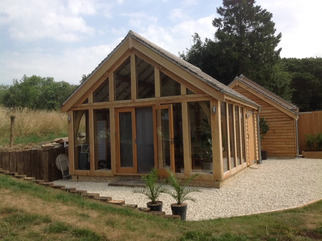 Detached Oak Double Garage Workshop Studio in the Cotswolds 3