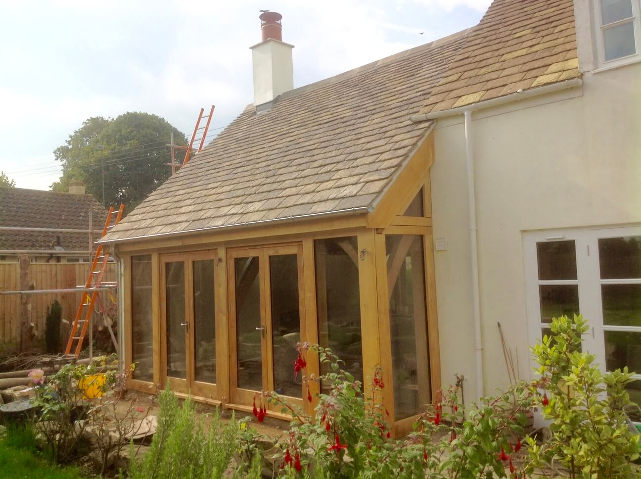 Large Oak Extension and Porch in Wiltshire 1