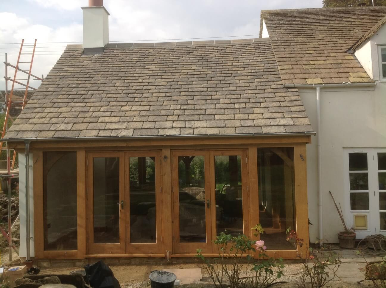Large Oak Extension and Porch in Wiltshire 3