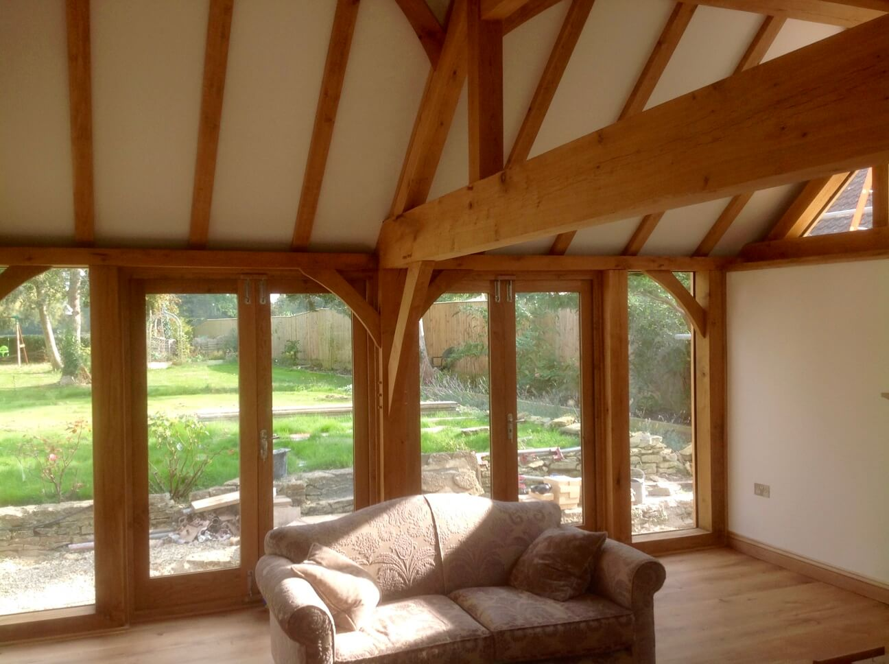 Large Oak Extension and Porch in Wiltshire 4