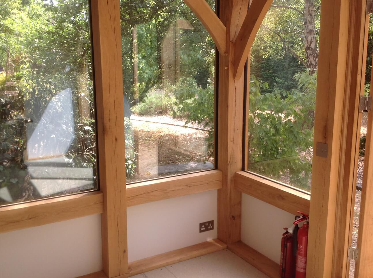 Oak Framed Artists Studio in Dorset 4