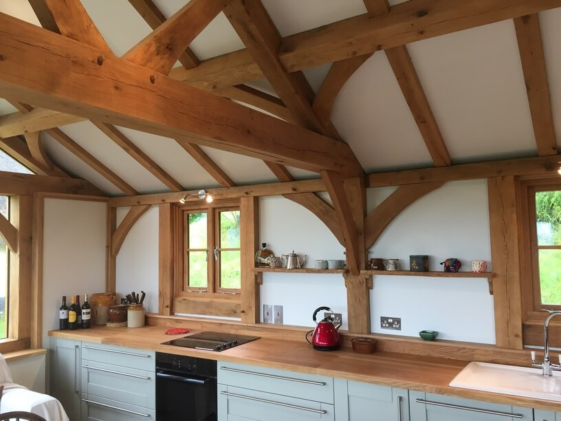 Oak Kitchen Extension in the New Forest 1