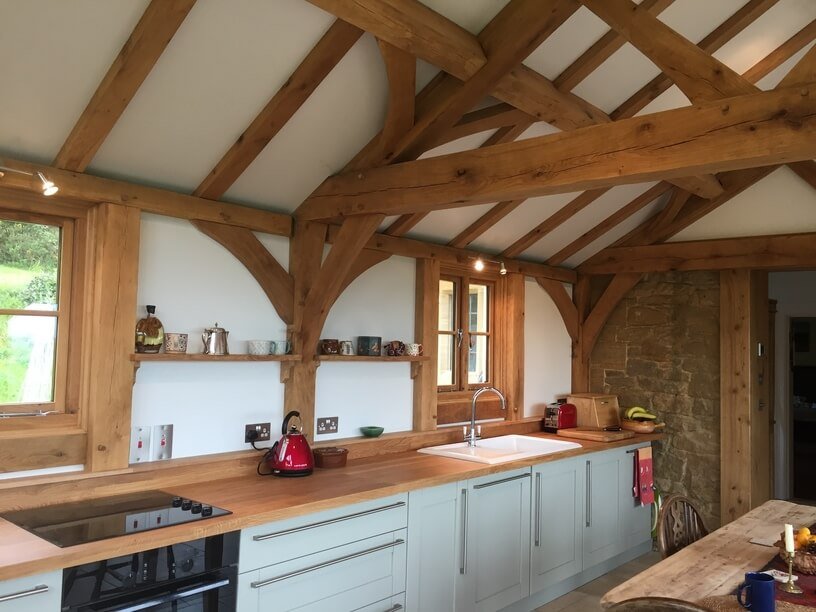 Oak Kitchen Extension in the New Forest 2