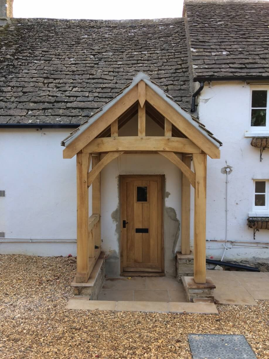 Oak porch in Wiltshire
