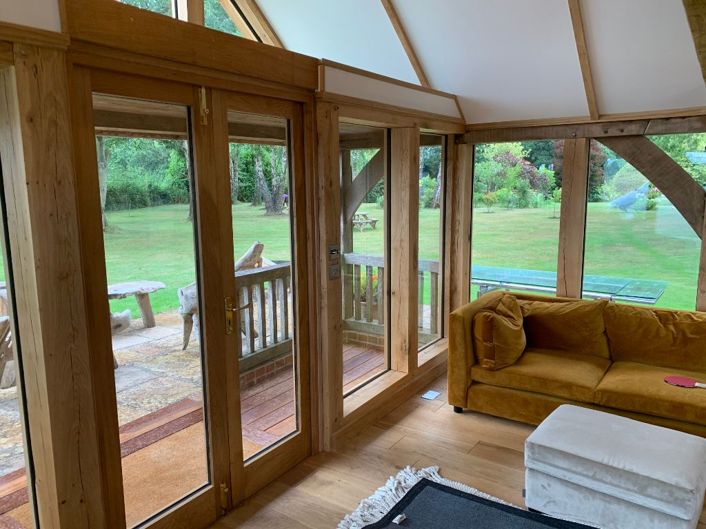 Oak Garden Room Refurbishment in Hampshire 10