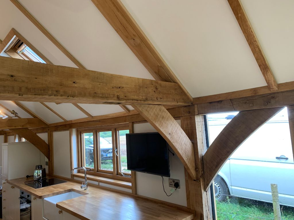 Oak Garden Room Refurbishment in Hampshire 11