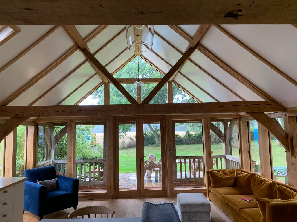 Oak Garden Room Refurbishment in Hampshire 6